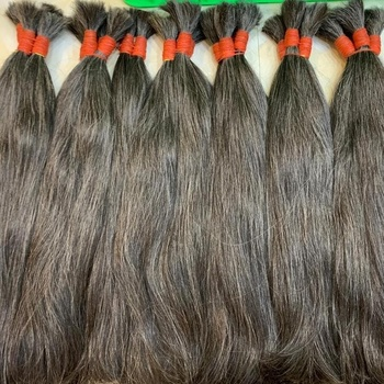 hair extensions 100% human affordable price white grey hair with top quality