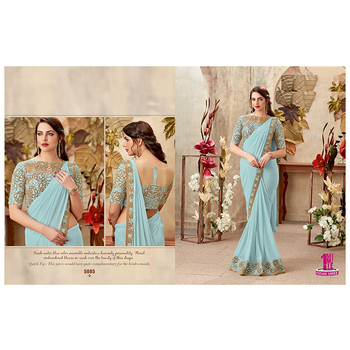 Indian Reception Party Wear Wedding Sarees for Bridal