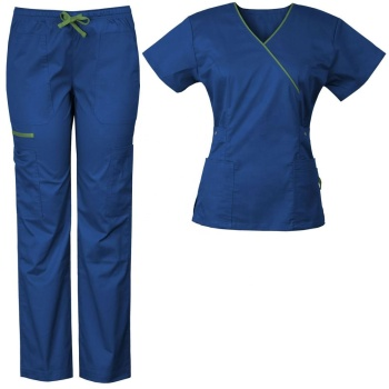 Top Quality Hospital Uniforms / Hospital Scrub Sets / Hospital 100% Cotton Scrub Top and Pant