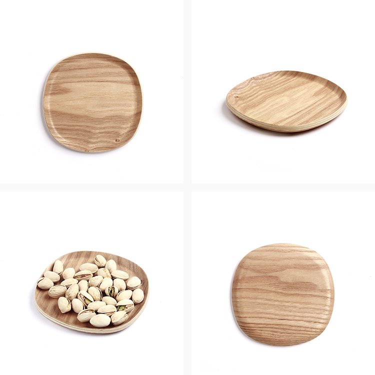 Wholesale willow  wooden offering dinner small plate Eco-friendly wear resistant of food