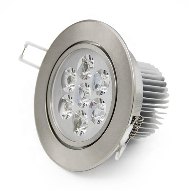 High Power LED Downlight Recessed 7w LED Spot Light Lamp Aluminum Wall Ceiling Light  For Living Room Bedroom Lighting