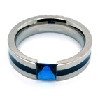 Titanium Ring Rings Ring Ring Ring Smooth Blue Stone Christmas Gift Shiny Costume Jewelry Pure Titanium Ring
