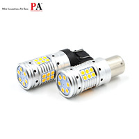 PA 30SMD 3030 Auto LED Turn Signal Blinker Bulb High Brightness T20 7440 Ba15s Bau15s 1156 P21W Amber (Yellow)
