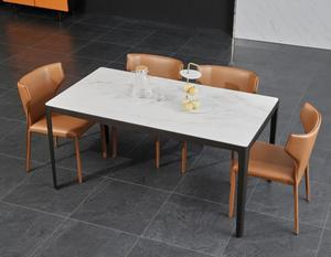 Dining Room Set Specific Use and metal Material furniture 12 seater marble dining table