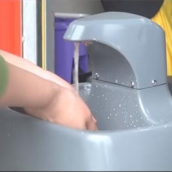 Lavandino Per Esterno In Plastica.Eco Amichevole Campeggio Lavabo Portatile Di Plastica Verde