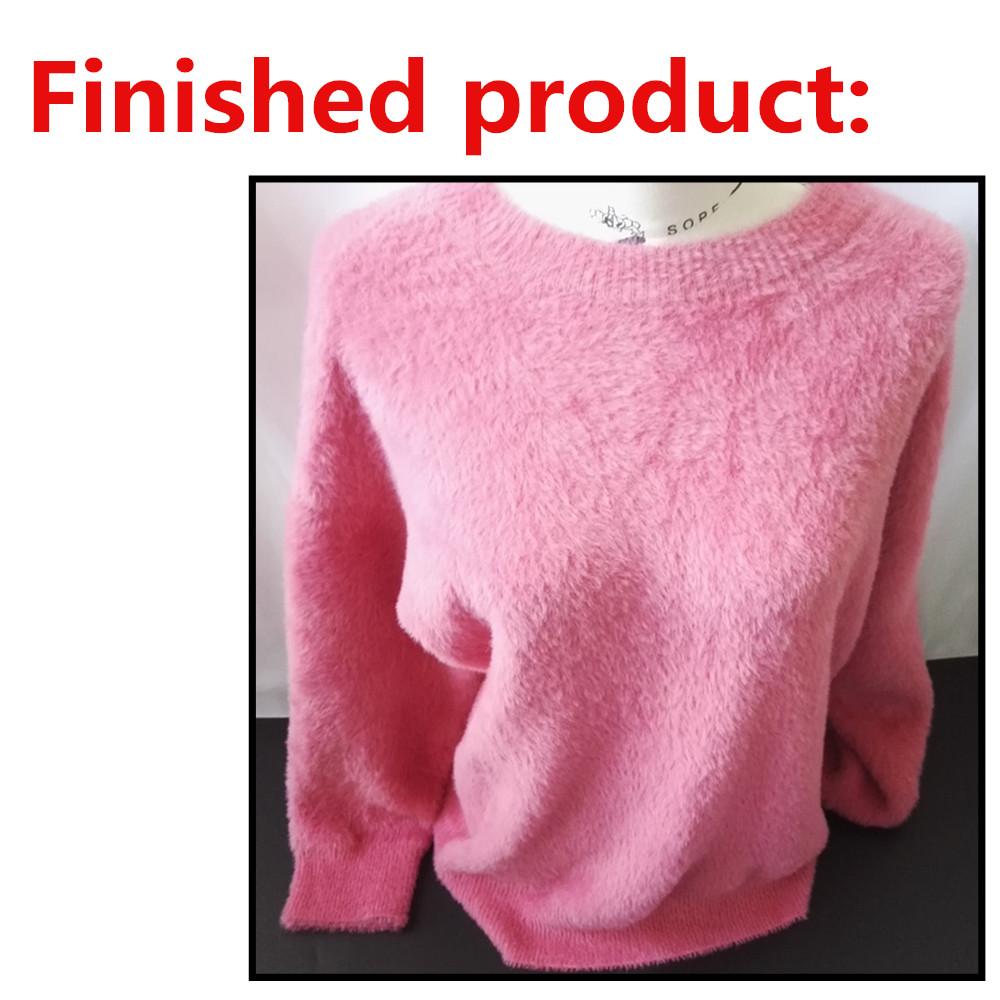 Manufacturer mink hand knit acrylic fancy Yarn for sweater knitting