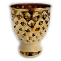 Pure Copper Glass Drinkware Tumbler Big Hammered Design