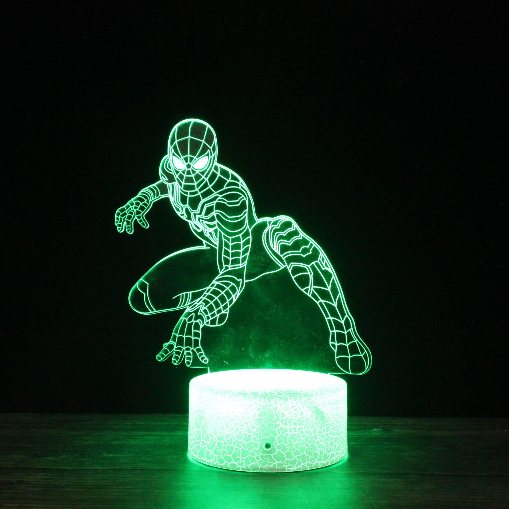 The Avengers children 3d led light base