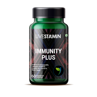 Immunity Plus Capsules with Guduchi, Tulsi, Ashwagandha Extracts Immune Health Supplement GMP ISO Certified Private Label