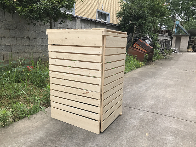 Outdoor Garden Wooden Trash Storage Cover Slatted Wheelie Bin Store Large Dustbin Shed