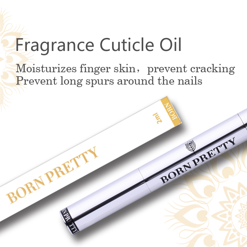 BORN PRETTY 2ml Fruit Flower Flavor Nail Art Care Nutrition Oil UV Gel Nail Art Use Cuticle Oil Pen