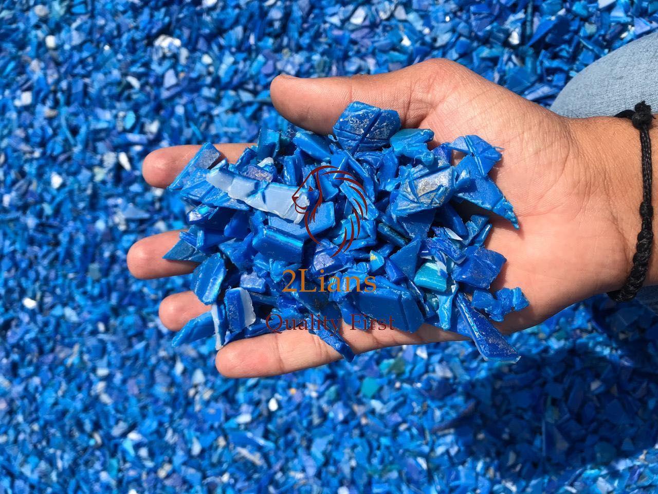 HDPE Drum Regrind Plastik Bekas/HDPE Biru Regrind Alami Limbah Industri Botol atau Kemasan