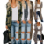 New Arrive Spring Autumn Women Long Sleeve Green Camo Leopard Print Long Lady Cardigan