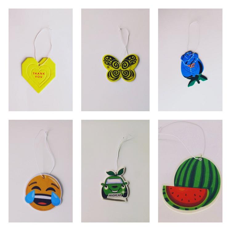 Custom Hanging Fashion Perfumes Paper Car Air Freshener Cartoon