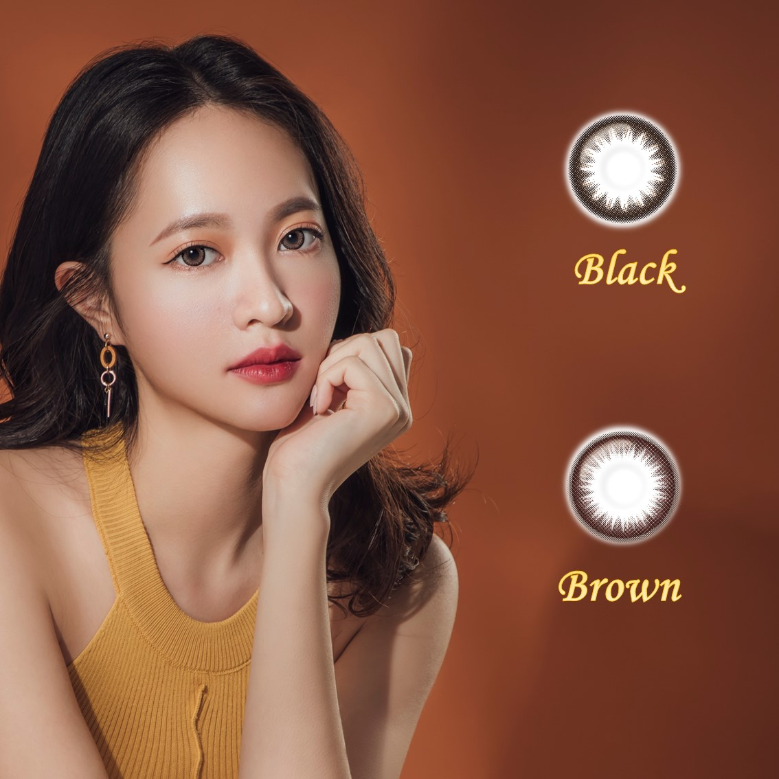 New Design   1-Day Colored Contact Lenses   Natural Black Brown   OEM Welcome   Bestseller   Wholesale