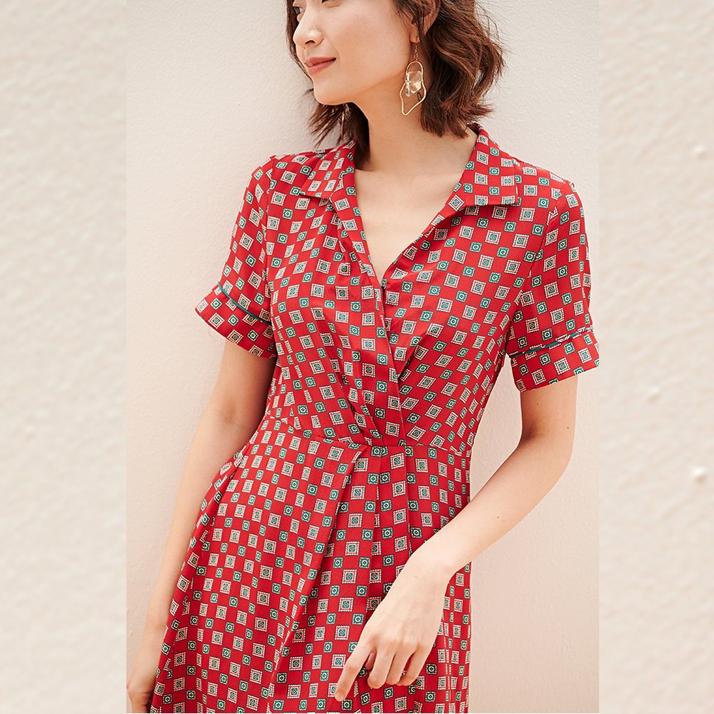 women clothing manufacturer small orders printed dress