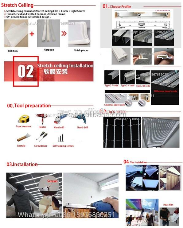 Edilizia immobiliare PVC stretched soffitto per sala da parete soffitto