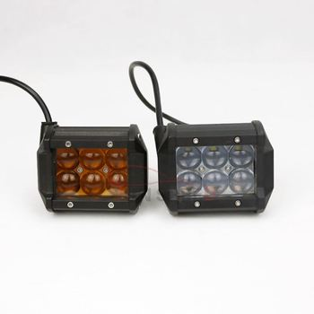 2019 roof mount 18w work light ,amber light bar fog lamp for 4WD