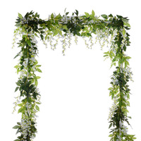 Nicro 6Ft/Piece Wisteria Garland Artificial Flowers Silk Bachelorette Party Wedding Decoration