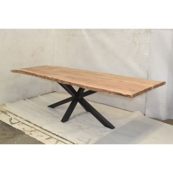 Acacia Live Edge Longest Industrial Style Restaurant Dining Table