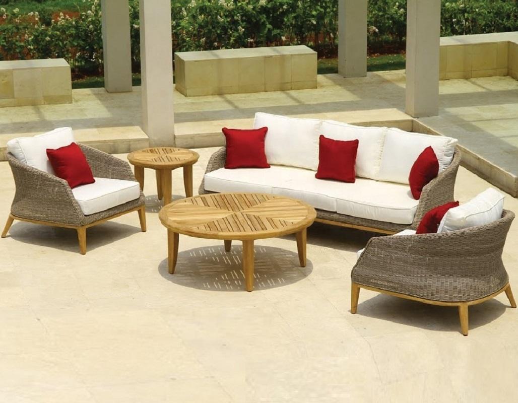 Patio Outdoor Rattan Garden Chaise