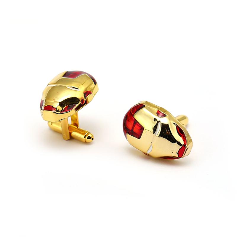 Fashion Iron Man Cufflink For Men Ironman Jewelry movies Avengers 3 Infinity War Cuff Link French Shirt Sleeve Button Gifts