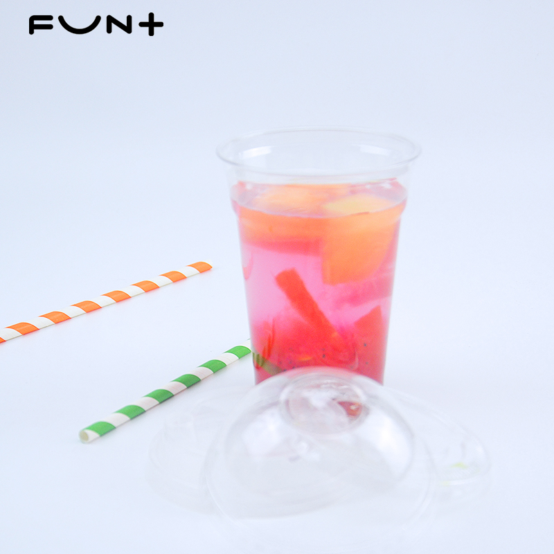 Clear PP Wegwerp Plastic Chinese Producten 18 oz/500ml-90 U Vorm Boba Bubble Melk Thee Cup