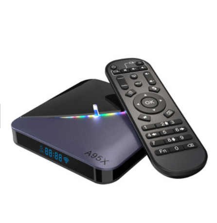 2019 Terbaru 8K Media Player TV Box A95X F3 RGB Lampu Amlogic S905X3 Quad Core Smart TV Android Kotak 4 K