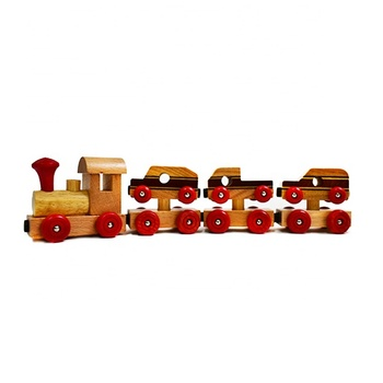 High quality educational wooden magnetic train