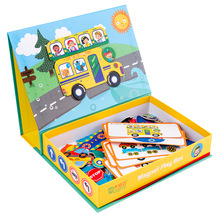 Kids <span class=keywords><strong>houten</strong></span> speelgoed <span class=keywords><strong>magnetische</strong></span> puzzel