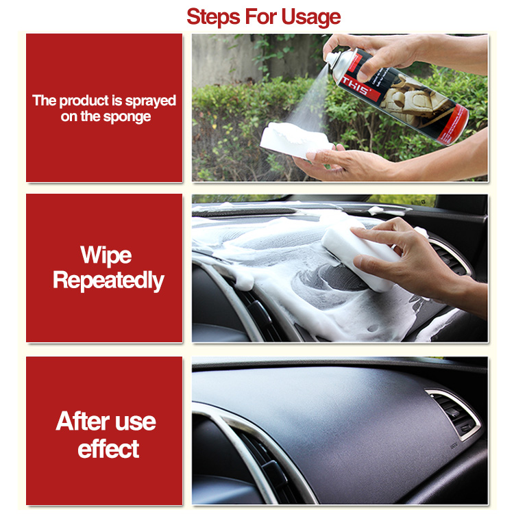 Wholesale waterless car wash formula multi use for plastic glass leather vinyl carpet upholstery foam cleaner