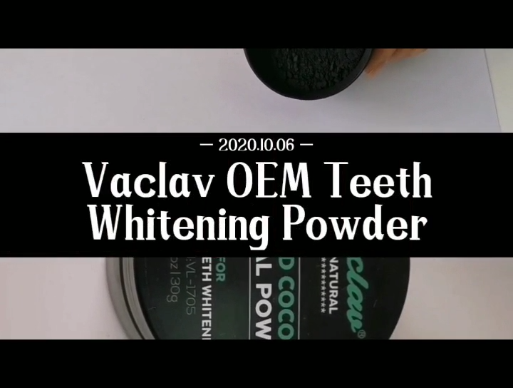 Vaclav 1 Box Tooth Whitening Powder+1 Toothbrush Activated Coconut Charcoal Natural Teeth Whitening Charcoal Powder Stain Remove