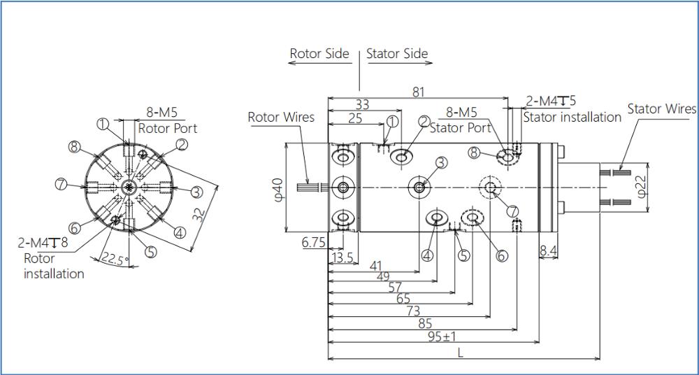 0~100rpm a vida de acoplamento giratória elétrica 10milion pode becustomized, fornecedores das junções de giro 0