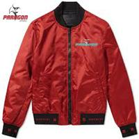 Blank red bomber jacket with custim zipper, oem wholesale online latest design unisex bomber jacket, bomber style nylon jacket