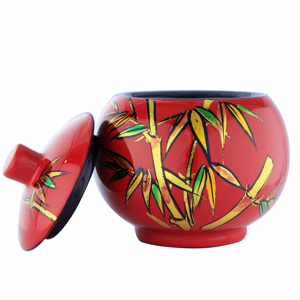 Vietnam Eco-Friendly Decoration For Home Ring Box Jewelry 2020 Newest Version Lacquer Sugar Pot With Lid