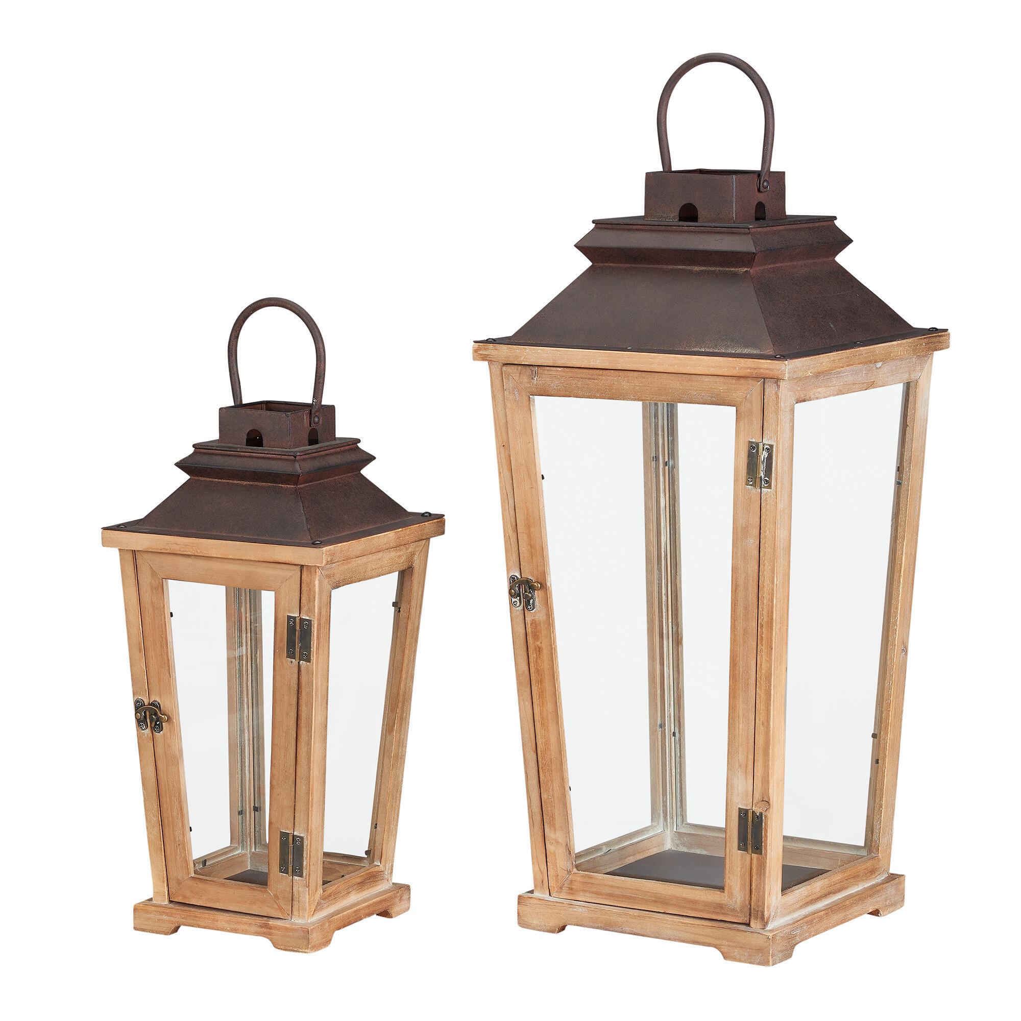 wood lanterns wedding