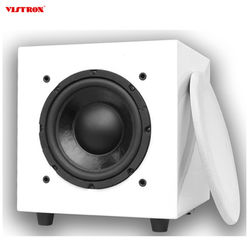Perfect White Square M8 Home HiFi Active Subwoofer Speaker