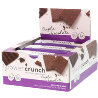 BNRG, Power Crunch Protein Energy Bar, Original, Triple Chocolate, 12 Bars, 1.4 oz (40 g) Each