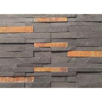 Mix Color Slate Stone Wall Panel Cladding Ledge Covering Tile