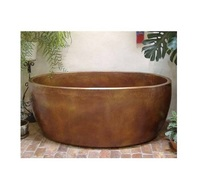 copper bath tub round
