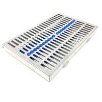 German Stainless 1 Heavy Duty Dental Autoclave Sterilization Cassette Box Tray for 10 Instrument-A+Quality