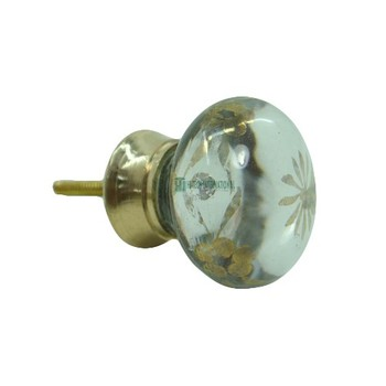 Designer Glass Cabinet Knobs - Clear Drawer Knobs - Multi Purpose Cabinet Knobs - Wholesale Bulk India Manufacturer