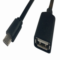 Durable OTG USB 2.0 Female To Micro Cable 15cm