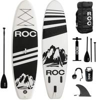 Original Roc Inflatable Stand Up Paddle Boards W Free Premium SUP Accessories