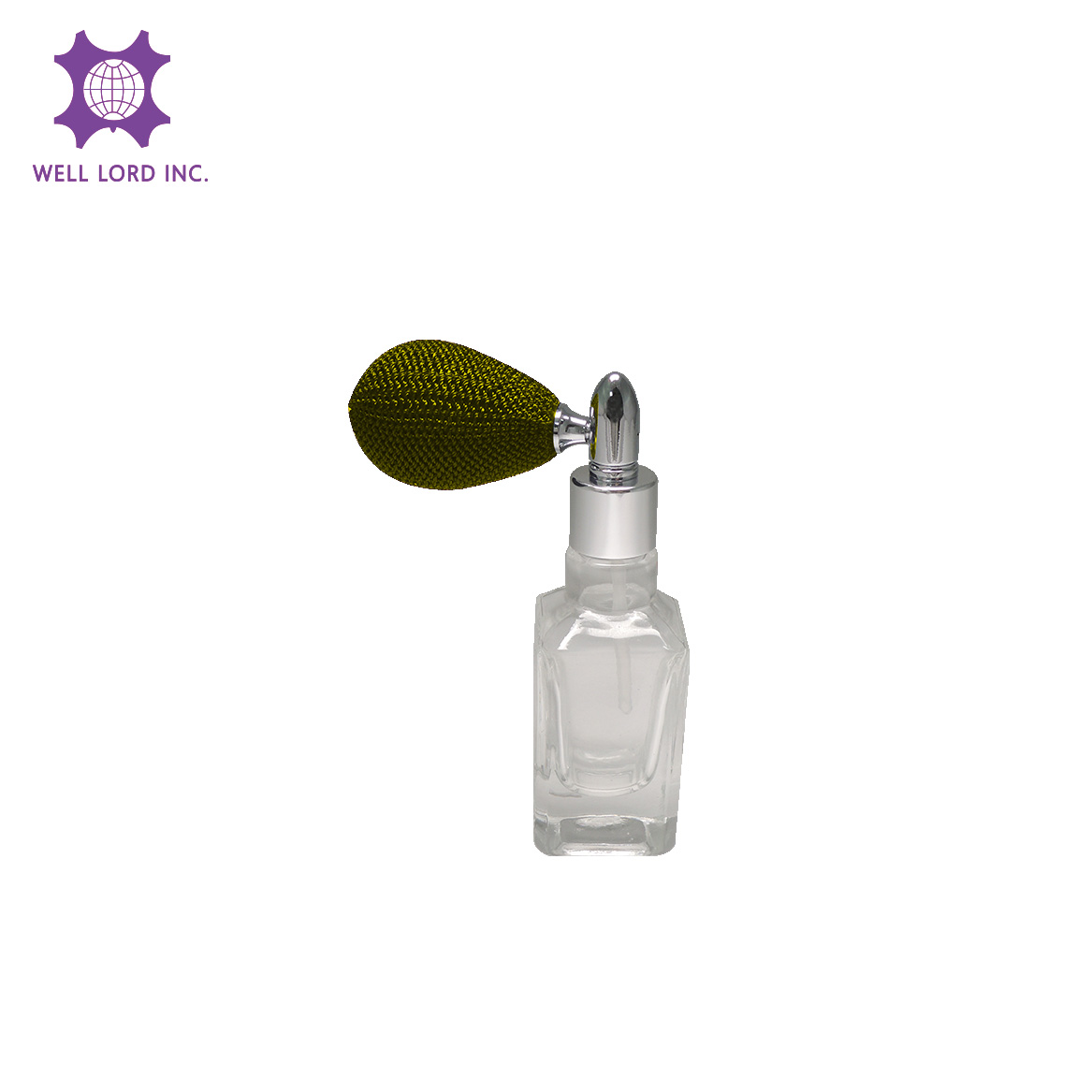 Splendid 13ml elegant clear glass bottle with sliver neck and cedar thread bulb perfume woman
