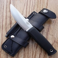 CUSTOM HAND MADE FULL TANG STRAIGHT BACK COMPING FIXED BLADE HUNTING SKINNING KNIFE