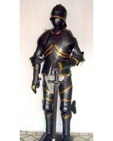 Medieval Knight Suit Of Armor/Armour Templar Combat Full Body Armour Stand