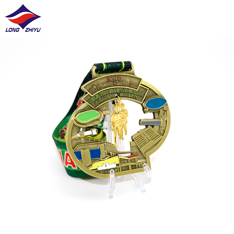 Longzhiyu 13 years zinc alloy medals manufacturer customised engrave running sport medals custom gold marathon finisher medals