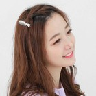 Korean jewelry metal bangs hairpin hairpin comb side clip anti-slip duck bill clip hair ornaments