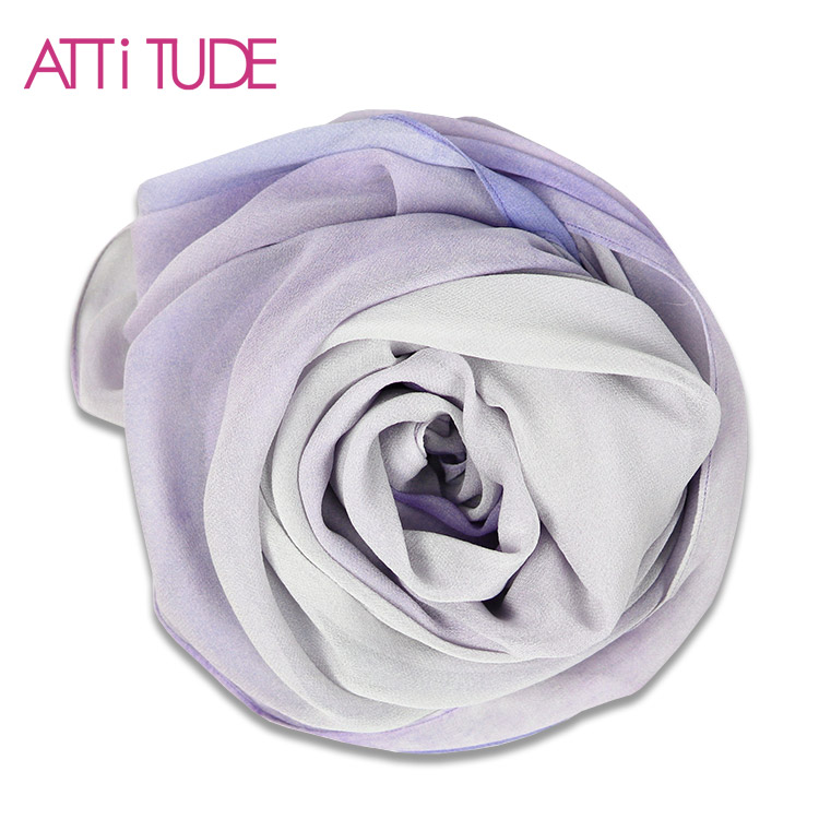 Quality assurance light purple square silk scarf headscarf